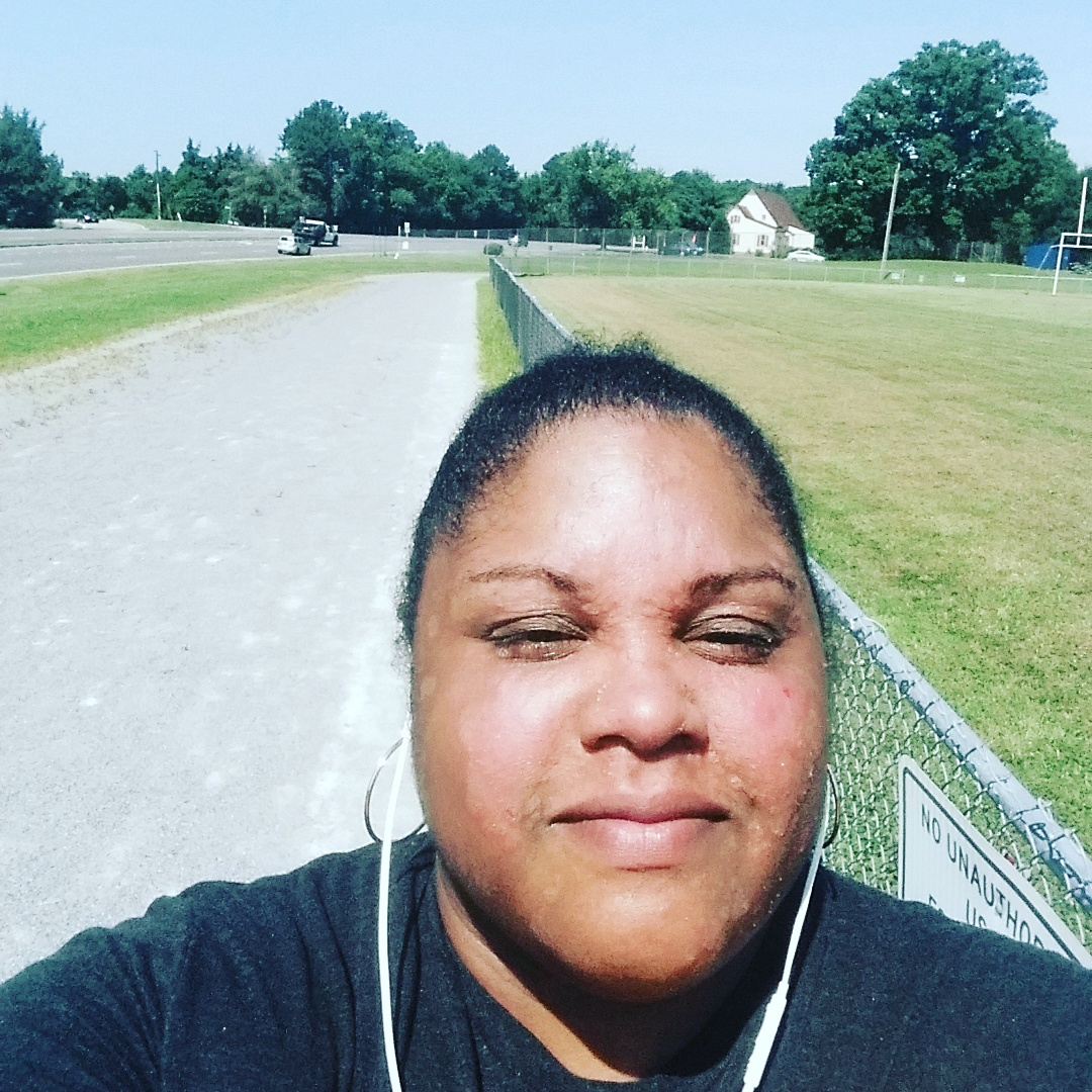 Outside on the track