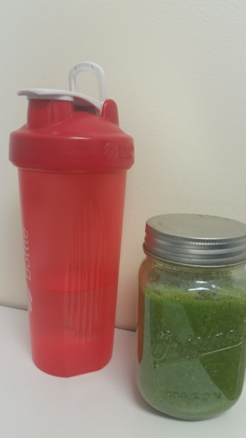 Water and Green Smoothie