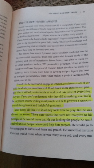 """Continuing to read """"The Hollywood Commandments'' by DeVon Franklin"""