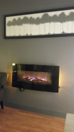 The fireplace in the post-float space. It was beautiful!