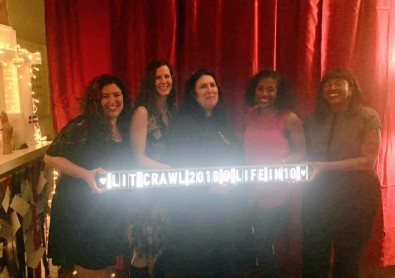 The fabulously talented writers from L to R: Valley Haggard, Elizabeth Ferris, Cindy Cunningham, Sadeqa Johnson and Paige Fulton