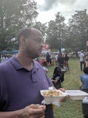 Hubby enjoying his gluten free mac